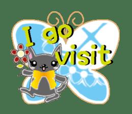 Small cat  (English) sticker #5706213