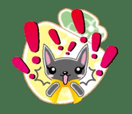 Small cat  (English) sticker #5706214