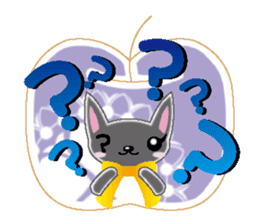Small cat  (English) sticker #5706215