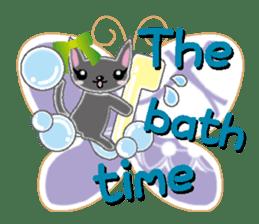 Small cat  (English) sticker #5706220