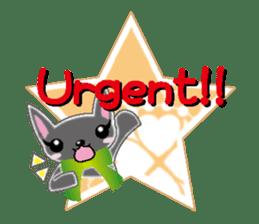 Small cat  (English) sticker #5706221