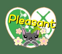 Small cat  (English) sticker #5706222