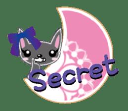 Small cat  (English) sticker #5706224