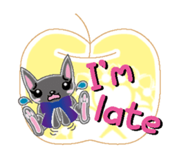 Small cat  (English) sticker #5706225