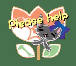 Small cat  (English) sticker #5706226