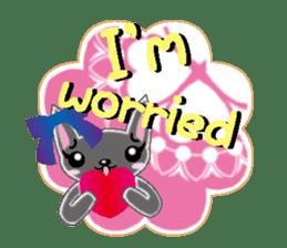 Small cat  (English) sticker #5706227