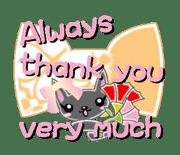 Small cat  (English) sticker #5706231