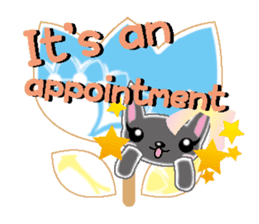 Small cat  (English) sticker #5706232