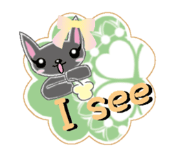 Small cat  (English) sticker #5706235