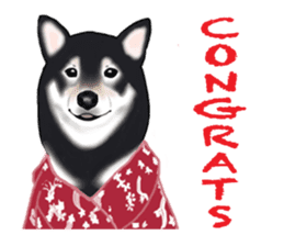Shiba Inu Momo & his Friends in English sticker #5706410