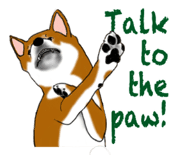Shiba Inu Momo & his Friends in English sticker #5706417