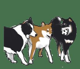 Shiba Inu Momo & his Friends in English sticker #5706424
