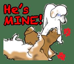 Shiba Inu Momo & his Friends in English sticker #5706426