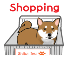 Shiba Inu Momo & his Friends in English sticker #5706431