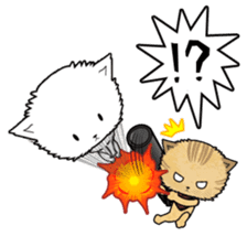 Dinner party of a gangstar cat English sticker #5707278