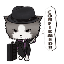 Dinner party of a gangstar cat English sticker #5707286