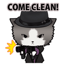 Dinner party of a gangstar cat English sticker #5707292