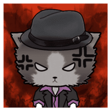 Dinner party of a gangstar cat English sticker #5707293