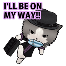 Dinner party of a gangstar cat English sticker #5707294