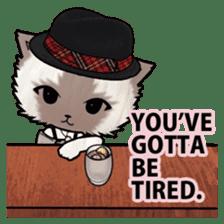 Dinner party of a gangstar cat English sticker #5707298