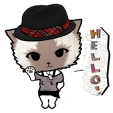 Dinner party of a gangstar cat English sticker #5707301
