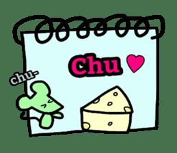 Feelings represent card sticker #5707579