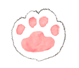 Easy going white cat sticker #5708771