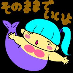 A chubby mermaid,  Pocchamo
