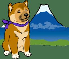 Shiba Inu, the brushwood dog from Japan sticker #5717044