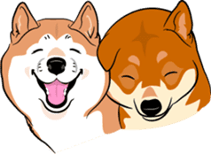 Shiba Inu, the brushwood dog from Japan sticker #5717047