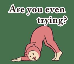 Little Devil Yoga sticker #5724553