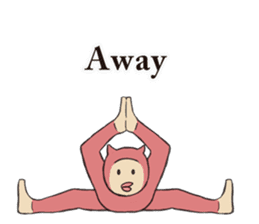 Little Devil Yoga sticker #5724559