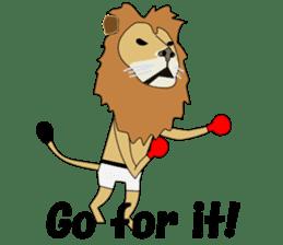 A cute lion. sticker #5732124