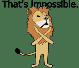 A cute lion. sticker #5732128