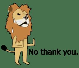 A cute lion. sticker #5732138