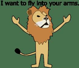 A cute lion. sticker #5732148