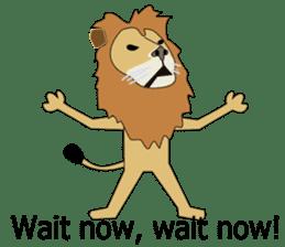 A cute lion. sticker #5732151