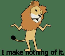 A cute lion. sticker #5732155