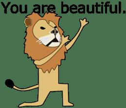 A cute lion. sticker #5732158