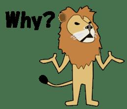 A cute lion. sticker #5732159