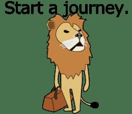 A cute lion. sticker #5732162