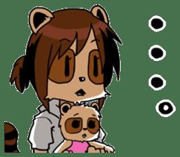 My wife looks like a Tanuki sticker #5737900