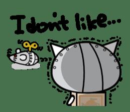 Cat type robot. Cat hand 3 sticker #5738365