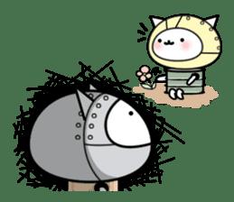 Cat type robot. Cat hand 3 sticker #5738370