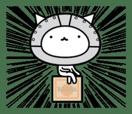 Cat type robot. Cat hand 3 sticker #5738377