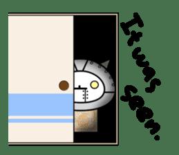 Cat type robot. Cat hand 3 sticker #5738380