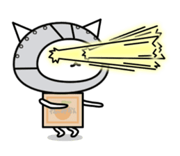 Cat type robot. Cat hand 3 sticker #5738381