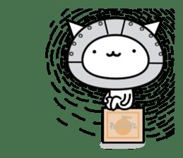 Cat type robot. Cat hand 3 sticker #5738392