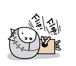 Cat type robot. Cat hand 3 sticker #5738395
