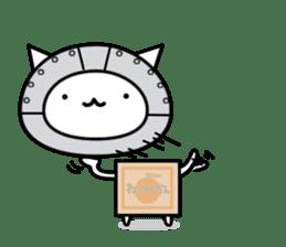 Cat type robot. Cat hand 3 sticker #5738400